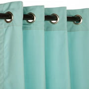 Sunbrella Canvas Glacier Outdoor Curtain with Nickel Plated Grommets 50 in. x 84 in.