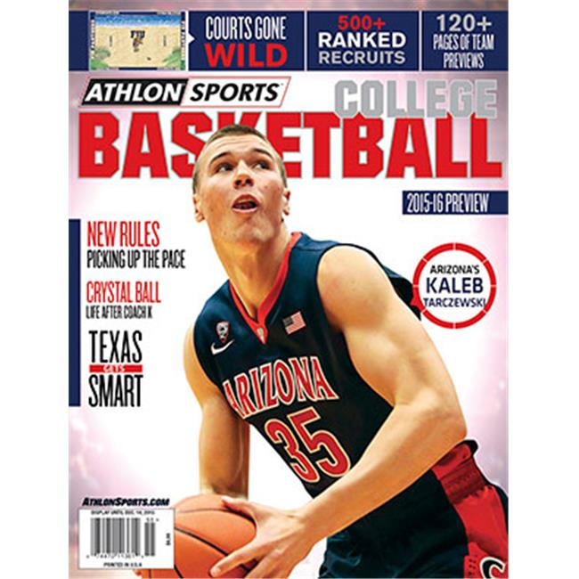 Athlon CTBL-018001 2015-16 Sports College Basketball Preview Magazine - Arizona Wildcats Cover