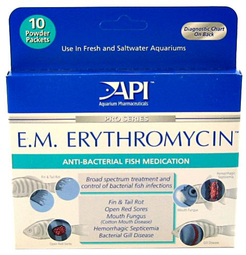 API Pro Series E.M. Erythromycin Anti-Bacterial Fish Medication Powder E.M. Erythromycin Powder