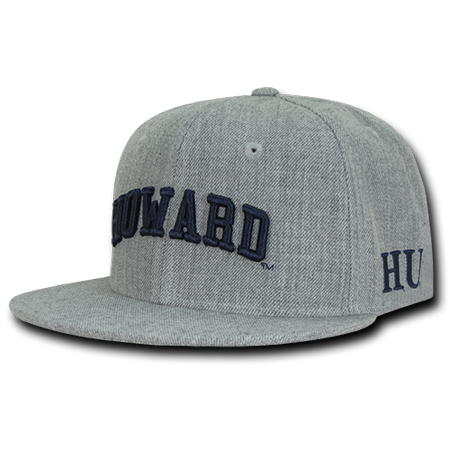 NCAA Howard University 6 Panel Game Day Snapback Caps Hats Heather Grey