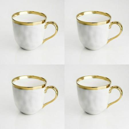- Yedi Houseware White Coffee Mugs, 15 ounces, Set of 4 / Coffeeware Morning Tea