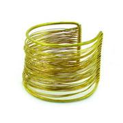 Global Crafts Handmade Dozens of Strands Brass Wire Cuff (India)