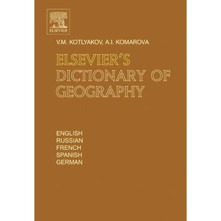 Elsevier's Dictionary of Geography - eBook