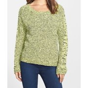 Two By Vince Camuto NEW Yellow Women's Large L Marled Crewneck Sweater $99
