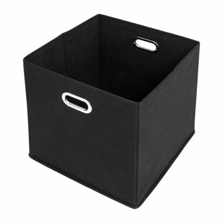 Clearance! 6PCS Foldable Fabric Storage Bins Cubby Cubes with Handles, Black