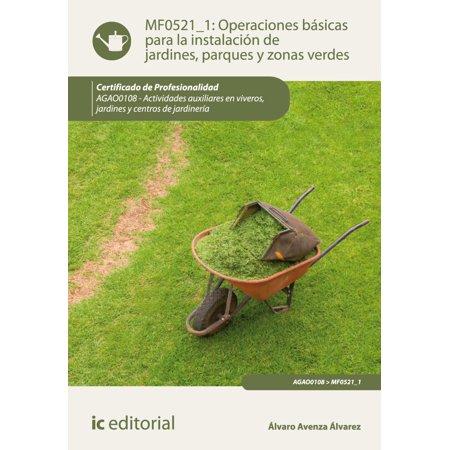 Operaciones básicas para la instalación de jardines, parques y zonas verdes - eBook ()
