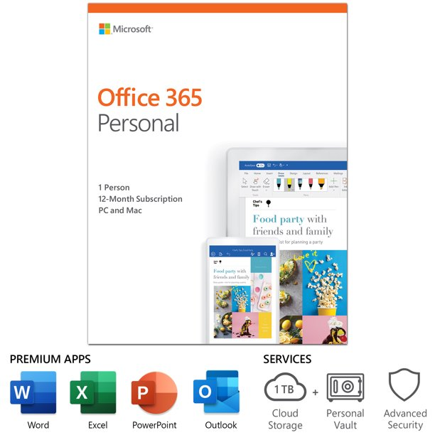Microsoft Office 365 Personal | 12-month subscription, 1 person ...