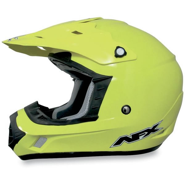 AFX FX-17 Solid MX Helmet Hi-Vis Yellow LG