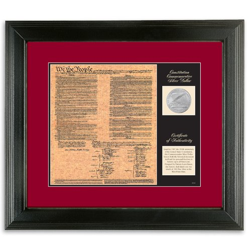 American Coin Treasures Birth of a Nation Constitution Framed Memorabilia