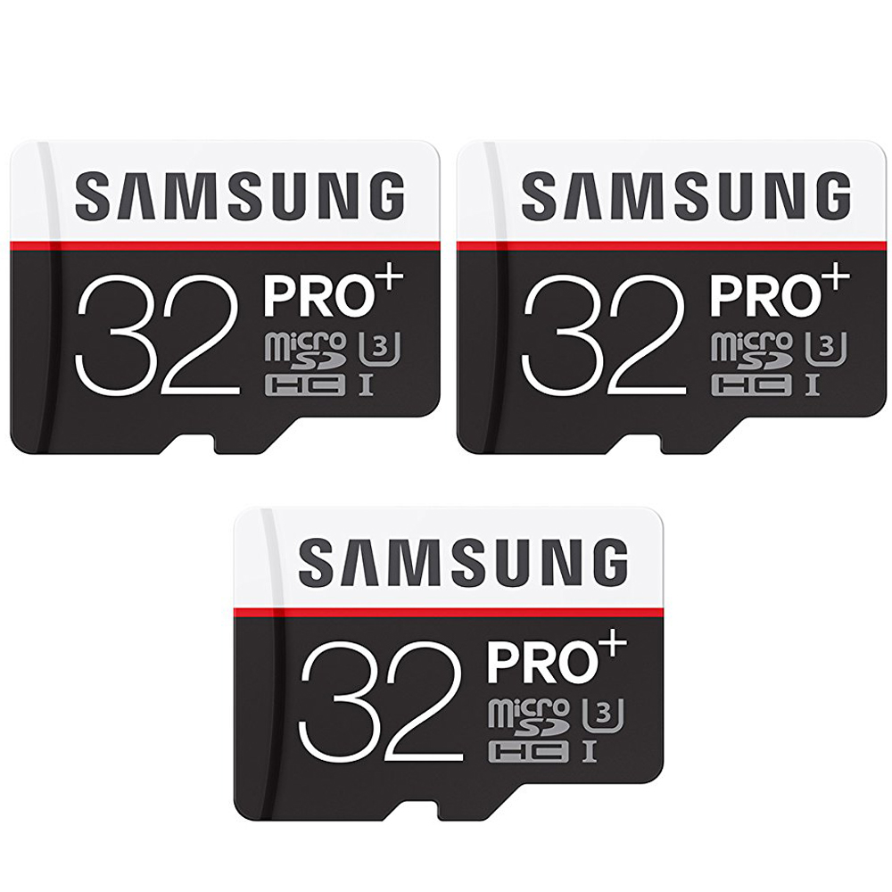 Samsung Pro Plus 32GB MicroSDHC Memory Card 3 Pack