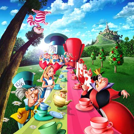 Alice in Wonderland POSTER Movie B - Alice In Wonderland Decorations For Sale