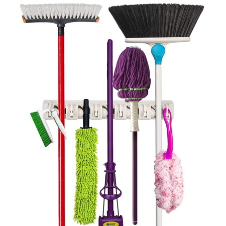 Pangaea Holder - Mop and Broom Holder Wall Mounted Garden Tool Storage Rack & Organization Home Hanger Closet Garage Shed Basement Storage Must Have