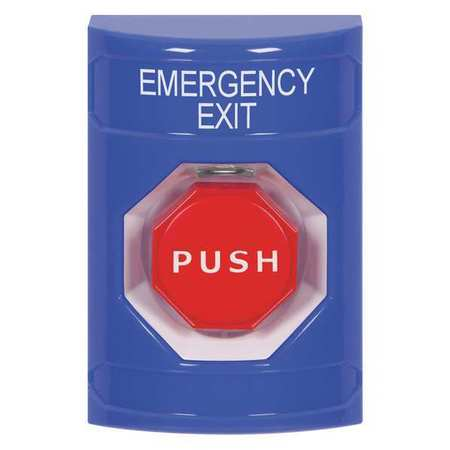 Emergency Exit Push Button,Blue Color SAFETY TECHNOLOGY INTERNATIONAL SS2405EX-EN