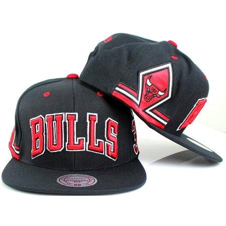 ba7ac463 Mitchell & Ness Scottie Pippen Chicago Bulls #33 NBA Shorts Snapback Hat  Black - Walmart.com