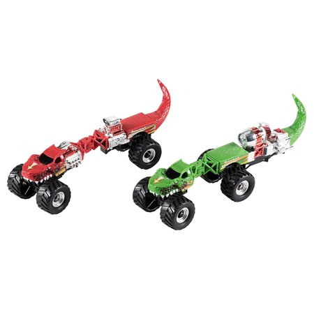 Juvale Dinosaur Car Toys - 2-Pack Kids Take-Apart Dino Car, 6 Pieces per Set, Build Your Own Monster Truck Toy, Birthday, for Boys 3 Years and Above, Red and Green, 10 x 2.7 x 2.8 inches ()