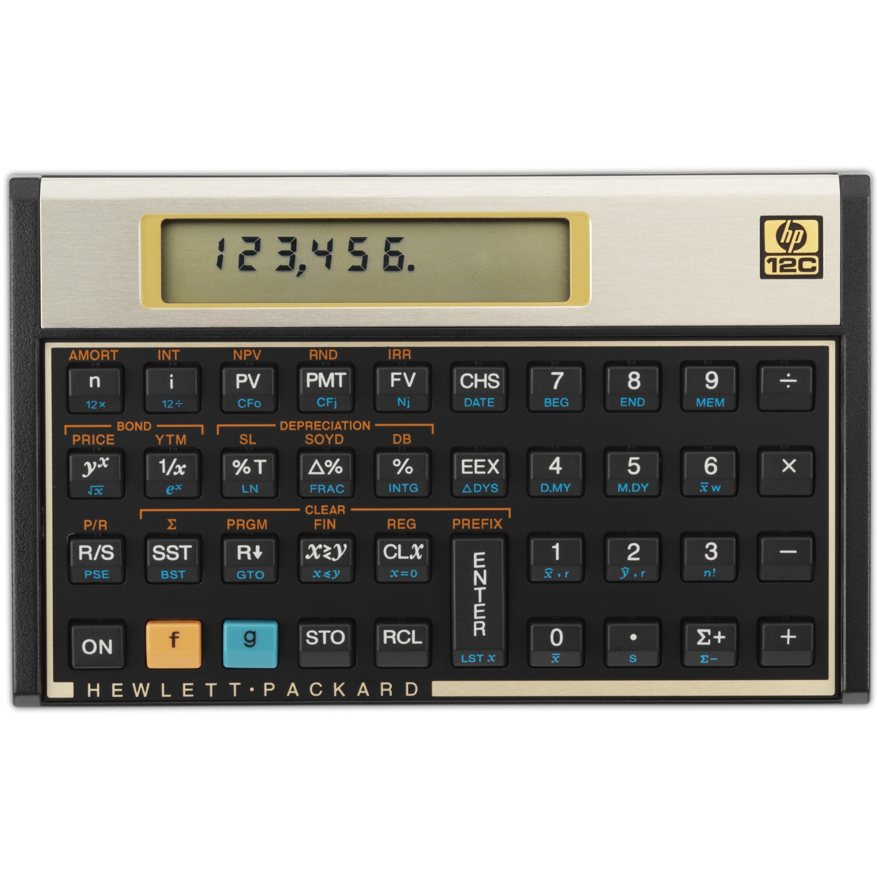 HP 12C Financial Programmable Calculator, 10 Digit LCD