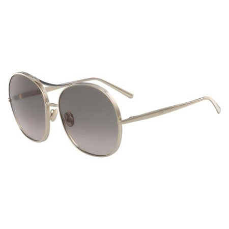 Chloe Nola Brown Peach Aviator Ladies Sunglasses CE128S 767 (Chloe Carolina Sunglasses)