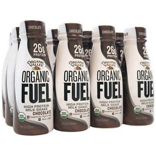Organic Valley Organic Fuel Shake, 26 Grams of Protein, Chocolate, 11 Oz, 12 Ct