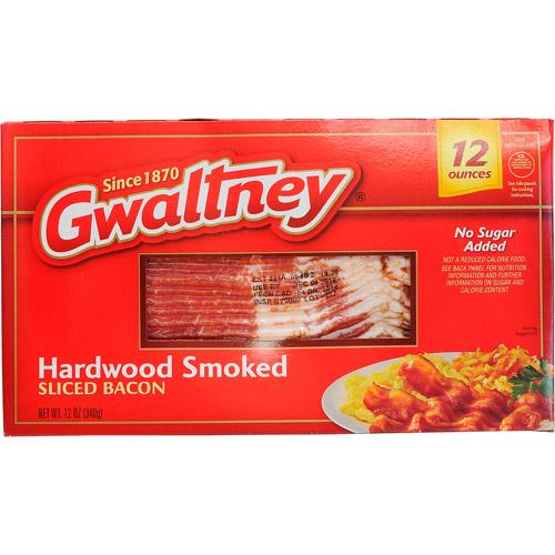Gwaltney Hardwood Smoked Sliced Bacon, 12 oz