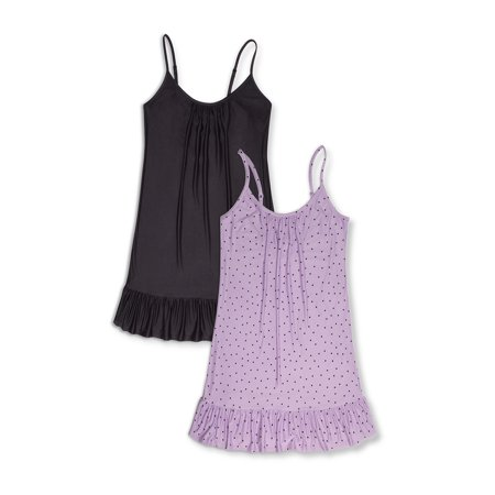 2 PACK SECRET TREASURES WOMEN'S AND WOMEN'S PLUS CHEMISE RUFFLE