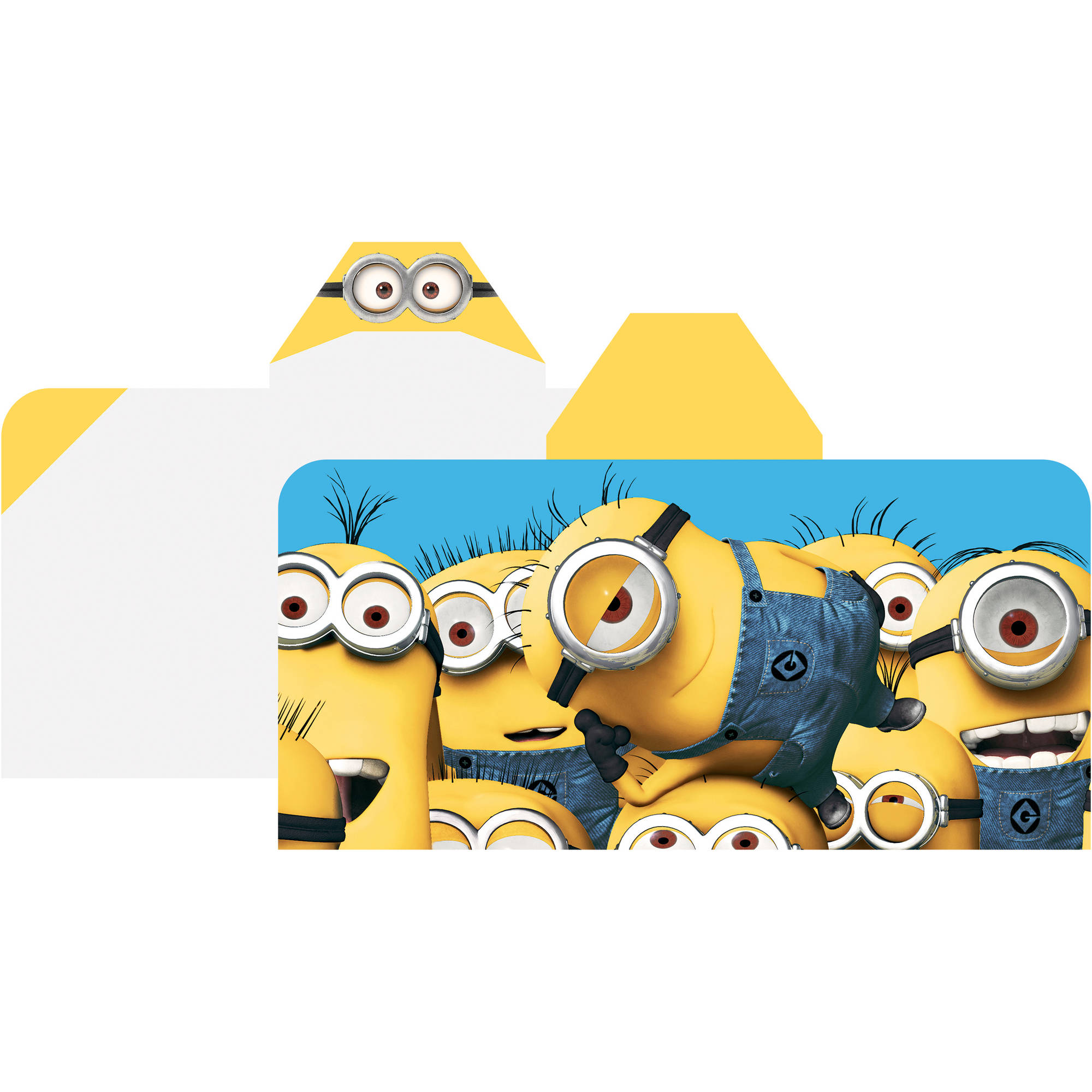 "Minions 'Cozy Up' 24"" x 50"" Hooded Towel Wrap"