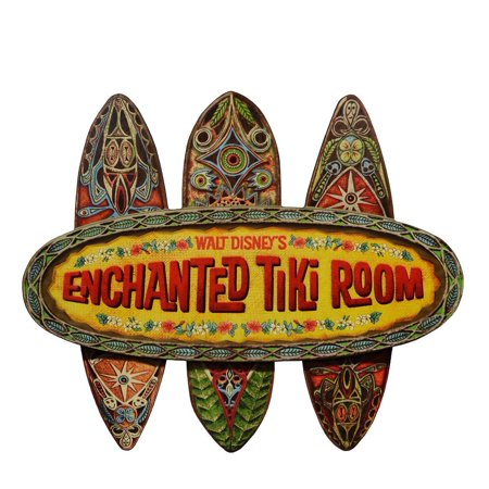 Disney Wall Plaque - Walt Disney World Enchanted Tiki Room Disneyland Replica Sign Wall Plaque New