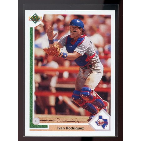 1991 upper deck final edition #55f IVAN RODRIGUEZ texas rangers ROOKIE (1994 Upper Deck Alex Rodriguez Electric Diamond)