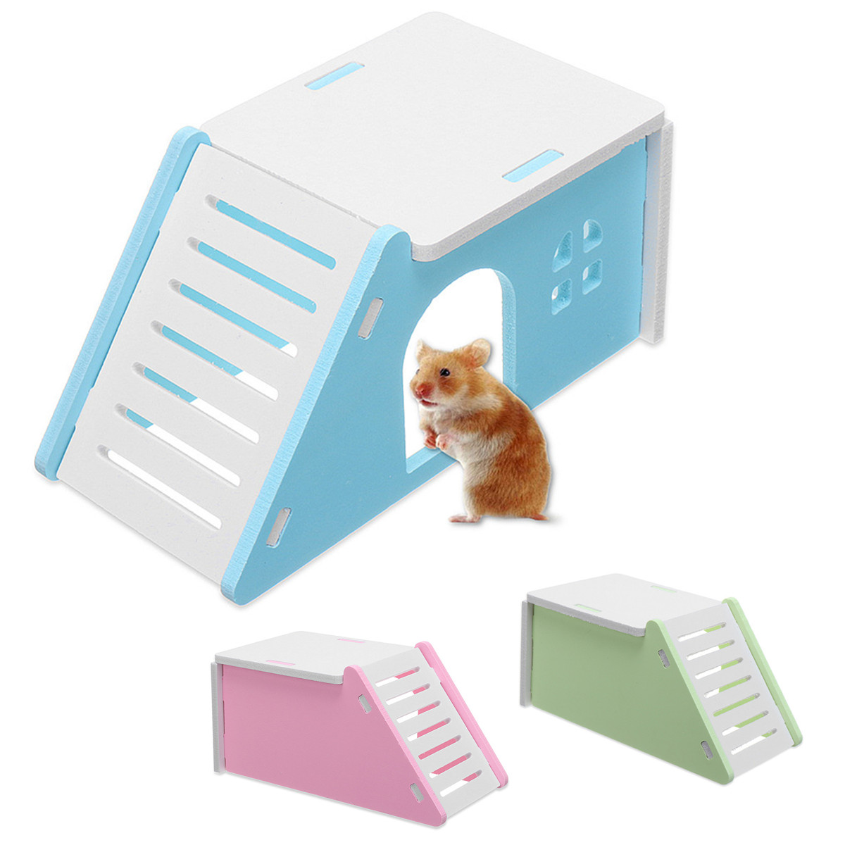 Animal Pet Hamster Nest Mouse Flat House Cage Bed Ladder Playground Exercise Toy Home Outdoor