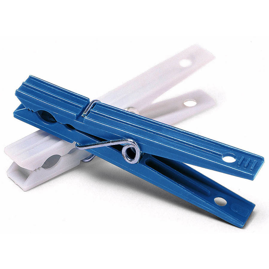 Whitmor 6171-919 Blue & White Plastic Clothespins, 50 Count