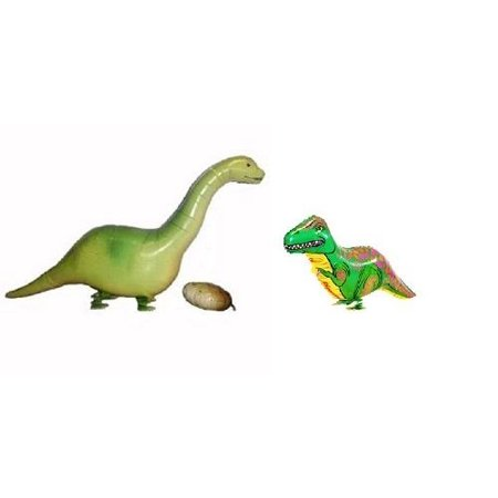 MY BALLOON STORE® TM SET OF 2 DINOSAUR WALKING BALLOONS AIR WALKER DINO ANIMAL PETS HELIUM PARTY DECOR FUN