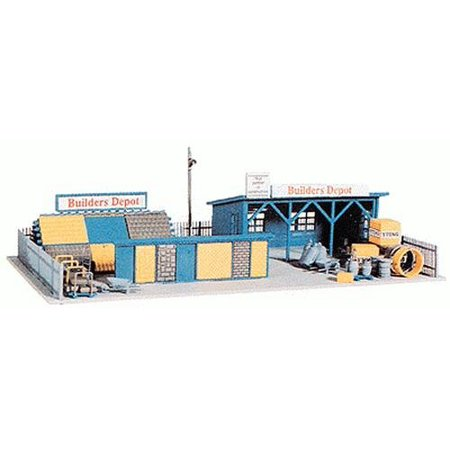 HO Scale Building Kit - Builders Depot, Molded in realistic colors By Model Power