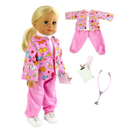 Baby Doll Clothes At Walmart Cool Pink Vet Outfit Fits 60 American Girl Dolls Madame Alexander
