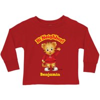 Personalized Daniel Tiger's Neighborhood Hi Neighbor Boys' Red Long Sleeve Tee
