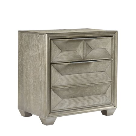 Global Furniture Usa Silver Soho Nightstand Walmart Com