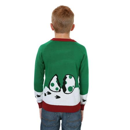 Dinosaur Christmas Sweater.Boys Reindeer Dinosaur Ugly Christmas Sweater
