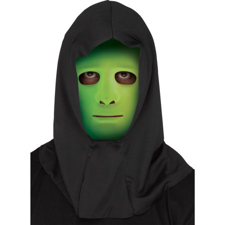 Blank Face with Shroud Mask Adult Halloween Accessory