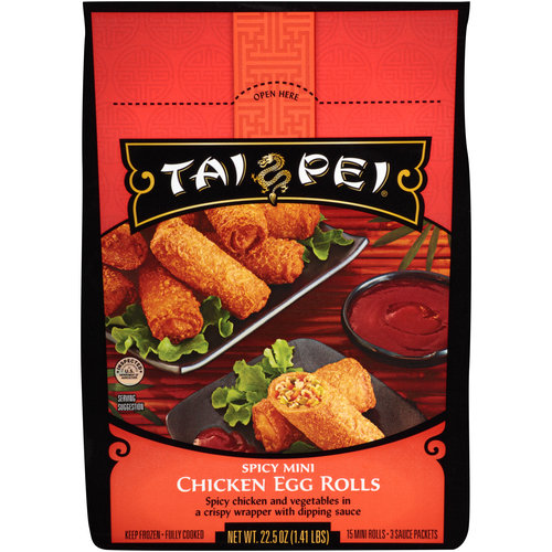 Tai Pei Spicy Mini Chicken Egg Rolls, 15 ct, 22.5 oz