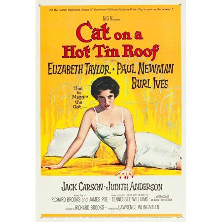 Cat On A Hot Tin Roof Elizabeth Taylor 1958 Movie Poster