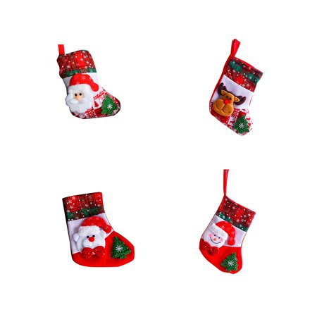 - Holiday Time Snowflake Christmas Socks Santa Claus Snowman Elk Bear Folks Bag Candy Gifts Bag Stockings
