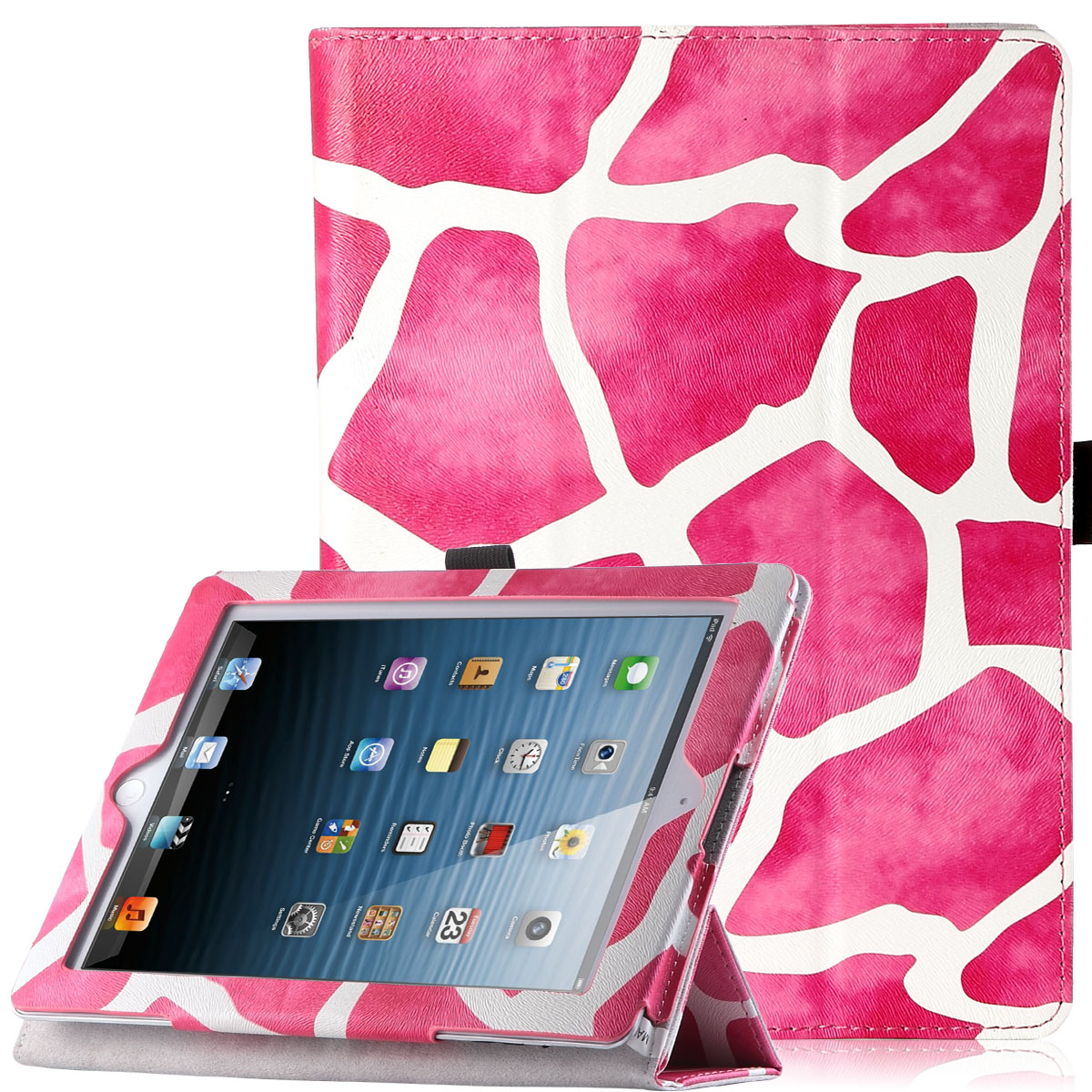"iPad 4 Case,iPad 3 Case,iPad 2 Case ,ULAK Smart Cover Protective Shell with Auto Wake / Sleep + Fold Media Stand for Apple iPad 4 (9.7"" inch) 2012 Release"