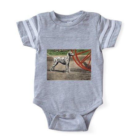 CafePress - FIN Dalmatian Portrait - Cute Infant Baby Football Bodysuit - Baby Dalmatian