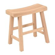 Saddle seat stool - 18 in. sh  Unfiinished
