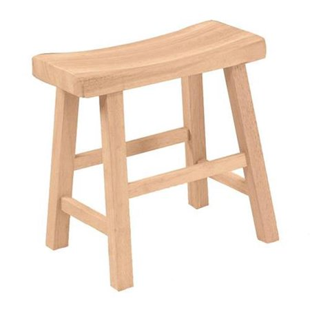 Intenational Concepts 1S-681 Saddle seat stool - 18 in. sh  Unfiinished