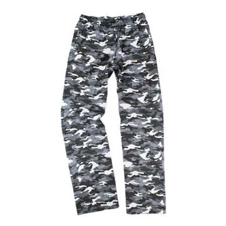 - Boxercraft Youth Flannel Pants with Pockets L Grey Camo