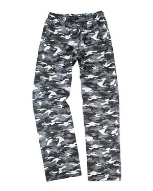 Boxercraft Youth Flannel Pants with Pockets L Grey Camo