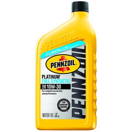 Pennzoil Platinum 10w 30 Full Synthetic Motor Oil 1 Qt