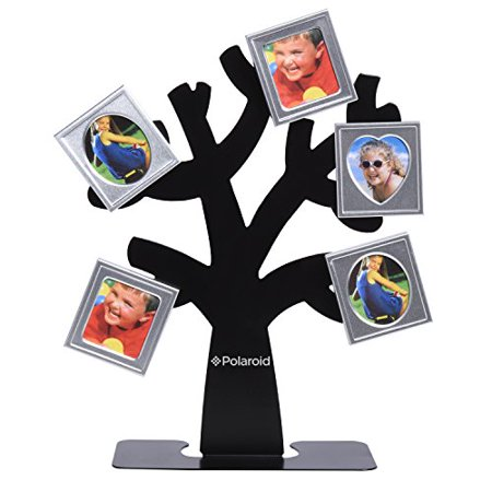 Polaroid Family Tree Frame Tree with Stand & Five Magnetic Mini ...