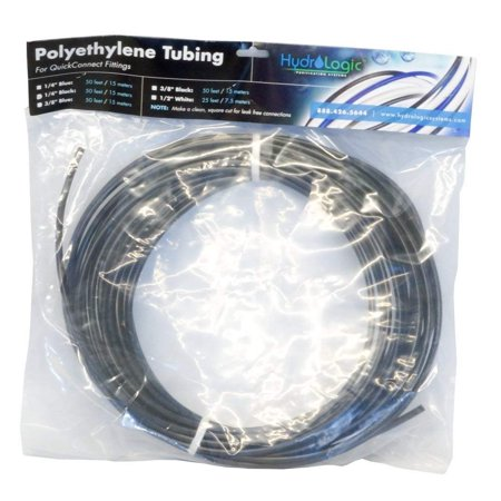 Low Density Polyethylene Tubing (Hydrologic Polyethylene Tubing, 50', Black,)