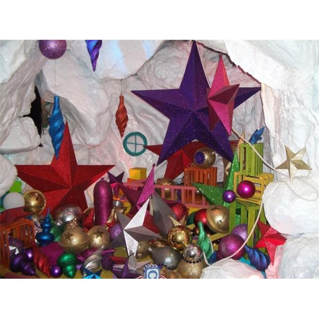 Barrango - 24 Inch Glitter Star Oversized Ornament