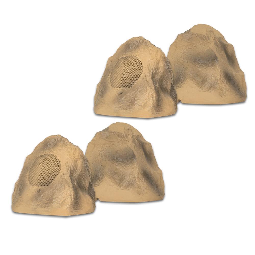 Acoustic Audio B4RS Sandstone Rock Speakers 2 Pair Pack Outdoor Weatherproof